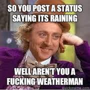 rain statuses