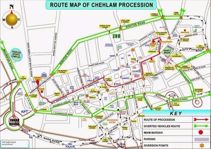 route map for chehlum