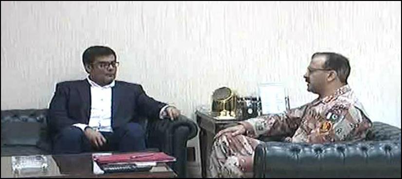 salman Iqbal meets DG Rangers