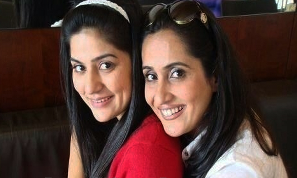 Pakistani actress Sanam Baloch and Sabreen Baloch