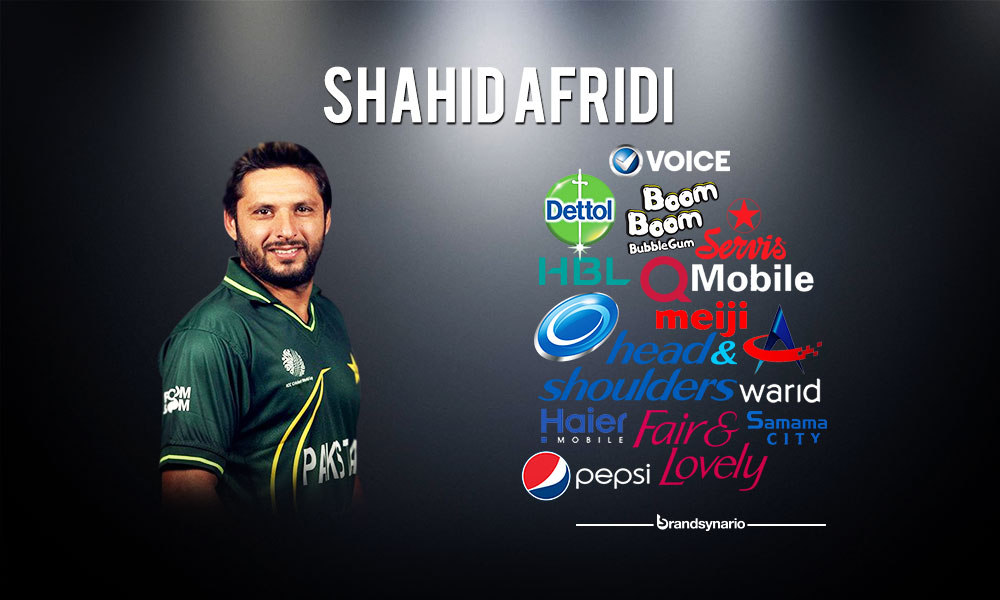 Shahid Afridi- Face of brands