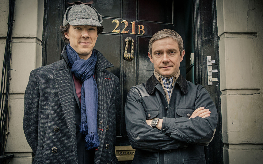 Sherlock...Programme Name: Sherlock - TX: 01/01/2014 - Episode: n/a (No. n/a) - Embargoed for publication until: 07/12/2013 - Picture Shows: +++PUBLICATION OF THIS IMAGE IS STRICTLY EMBARGOED UNTIL 00.01 HOURS SATURDAY DECEMBER 7TH, 2013+++ - (C) Hartswood Films - Photographer: Robert Viglasky