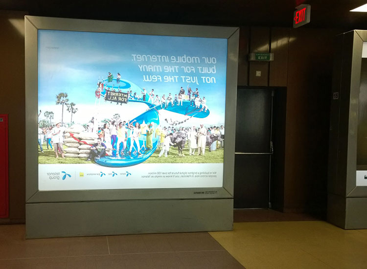 telenor OOH Airport