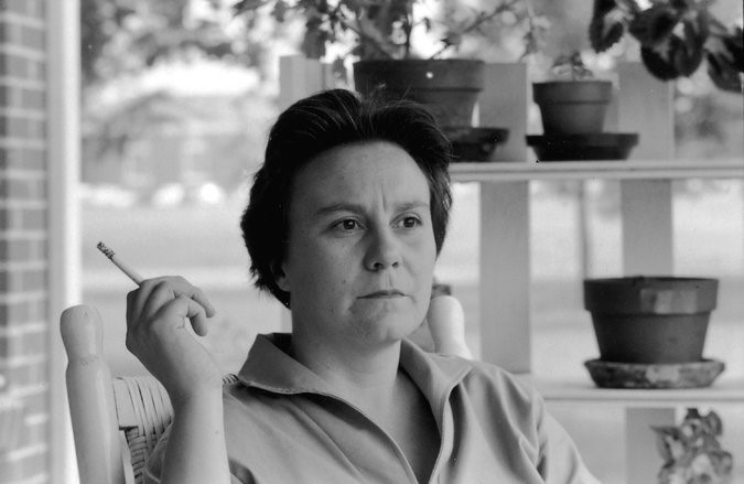 Harper Lee on the porch of her parents' home in Monroeville, Ala., in 1961( Getty Images