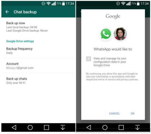 whatsapp android backup